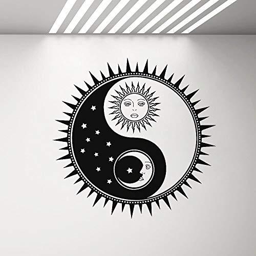 wopiaol Golf Muursticker kantoor Muursticker Yin Yang Relativiteitstheorie Home Tattoo Sterke lijm Sun Moon 59X57 cm