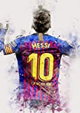 HONGSHUAI Lionel Messi Poster Leinwand Wandkunst Kunstdruck