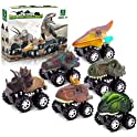 6-Pack Palotix Pull Back Dinosaur Car Toys