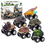 Dinosaur Toys for 3 Year Old Boys, Pull Back Dinosaur Toys for 5 Year Old Boy 6 Pack Set Car Toys for 4 Year Old Boys Christmas Birthday Gifts for Kids 2 3 4 5 6 Year Old Boys Girls