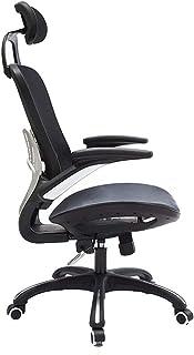 Fashionable Chairs Swivel Ergonomic High Back Mesh Office Adjustable Armrest Lumbar Support Headrest Computer (color : Bla...