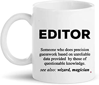 Editor Cup Coffee Mug | Photo Designer Video Film Editing Audio Sound Editors Shirt Gift editor-in-chief journalist reporter Gift for Friend Coworker