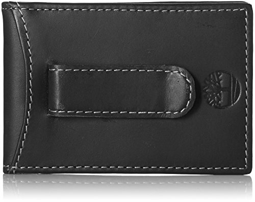 Timberland Men's Minimalist Front Pocket Slim Money Clip Wallet, Black, One Size