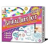 MC CHENMEI Spirograph El Juego de espirógrafo 3 EN 1 Incluye el Kit de espirógrafo para Principiantes, el Kit de espirógrafo clásico, el Kit de espirógrafo de Color DIY, el Regalo para niña