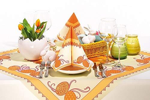 Tischdecken aus Airlaid | Mitteldecken 80 x 80 cm | Mank Einmal-Tischdecke für Gastronomie | 20 Stück| Andy