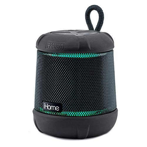 iHome iBT155 Bluetooth Speaker Weather Tough Color Changing Floating Waterproof Portable Wireless Speaker