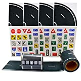 WHILE OTHERS ARE SELLING YOU JUST PLAIN STANDALONE ROAD TAPES, we, at TROLIR, not only bring you 2 rolls of the tape to play with but also include a BONUS set of 100 die cut traffic sign stickers that will make your child's gaming experience more ric...