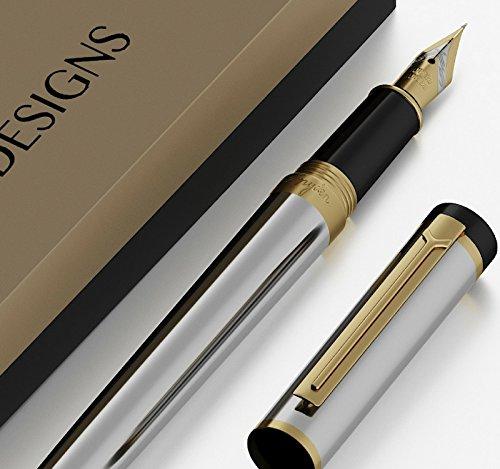 Dryden pluma estilográfica (Plata) clásico moderno edición limitada