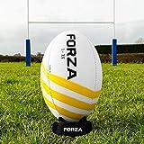 FORZA Ballons de Rugby – Homologués par World Rugby | pour Une Pratique Compétition, Loisir ou Entraînement (Helix, Taille 5)