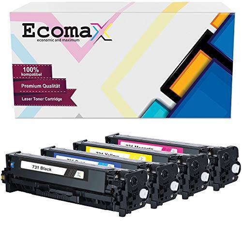 4 Ecomax Toner kompatibel für Canon I-Sensys LBP-7100CN LBP-7110CW MF8200 8230CN MF8280CW ImageClass - CRG-731 731M 731Y 731C 731BK