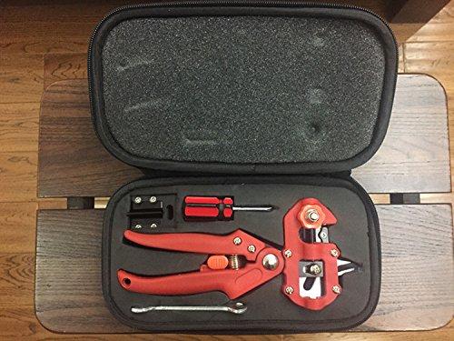 Produit neuf 1 Lot Professioal Rouge Couleur jardinage Sécateur Cisaille Ciseaux de coupe Sécateur à greffer Greffe machine outils