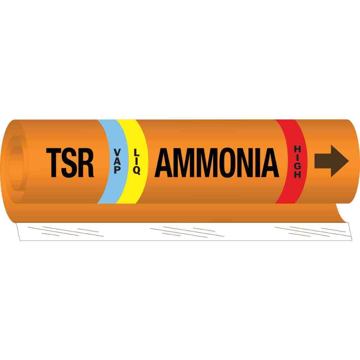 Brady TSR LIQVAP Ammonia HIGH Pipe Marker, 9