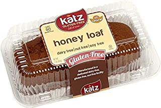 Katz Gluten Free Honey Loaf | Dairy, Nut, Soy and Gluten Free | Kosher (1 Pack of 1 Loaf, 16 Ounce)