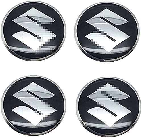 4 Piezas 56mm Tapas Centro Rueda para Suzuki Vitara Swift SX4 Jimny Samurai Xl Alto Liana Ignis, Resistente Al Agua Y Al Polvo CalcomaníAs de CalcomaníAs Coche Emblema Decorativa Accesorios