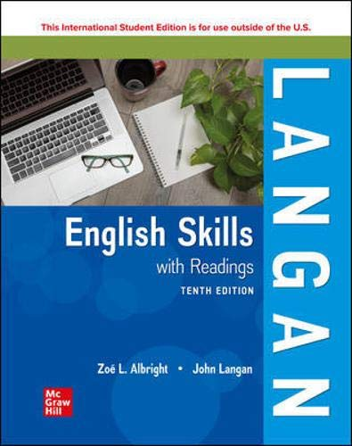 Compare Textbook Prices for English Skills with Readings 10 Edition ISBN 9781260570403 by Langan, John,Albright, Zoe