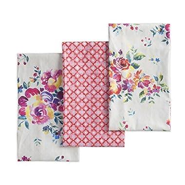 Maison d' Hermine Rose Garden 100% Cotton Set Of 3 Kitchen Towel 20 Inch by 27.5 Inch