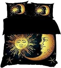 3D Imprimé Parure De Lit Literie à Lune Taille (220x240cm), Ensemble 3 pièces, 1 Housse de Couette + 2 taies d'oreiller As...