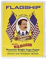 Flagship w.b. Masonコピー用紙、92明るい、20lb。、500/ RM