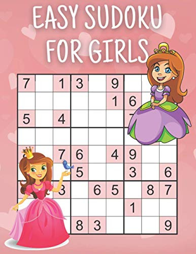 Easy Sudoku for Girls: Princess| Puzzle Book| Sudoku for Juniors