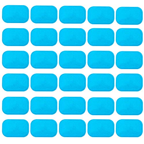 ABS Gel Pads, 30PCS Muscle Stimulator Pads Replacement for Ultimate Muscle EMS Toner Abdominal Belt Belly Thigh Flab Arm Leg Waist Workout Trainer Machine