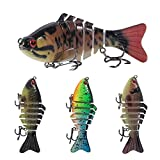 4pcs Fishing Lures Multi Jointed 3D Life-Like Artificial Swimbaits Slow Sinking Hard Baits for Bass Pike Lake Trout