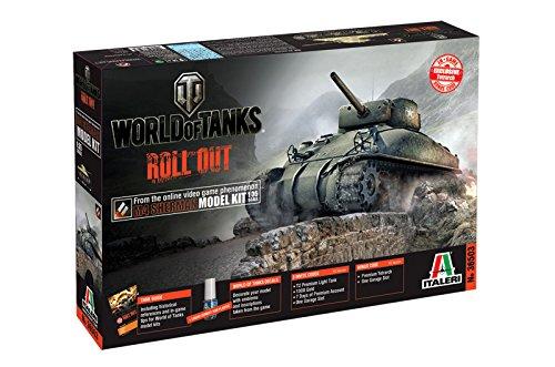 Italeri 510036503 - 1:35 US M4 Sherman Panzer World of Tanks