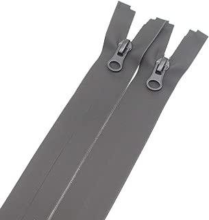 Meillia 2PCS 28 Inch Waterproof Zippers Black #5 Separating Waterproof Zippers Bulk for Sewing Tailor Crafts Clothes Jackets Down Coats Raincoats (28