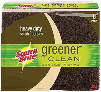 6-Count Scotch-Brite Greener Clean Heavy Duty Scrub Sponge