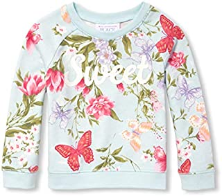 The Children's Place Girls' Baby Long Sleeve Floral Printed Sweater