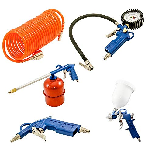 Compressed Air Compressor Accessoire Set 5 Stuks Spray Paint Gun band Drukslang.