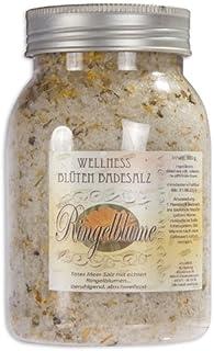 500g Ringelblume / Calendula Totes Meer Wellness Badesalz-Blütenbadesalz-Blüten-Bade-Salz