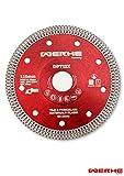 WERHE ® Profi Diamantscheibe 125 mm Feinsteinzeug Fliesen Granit Diamant-Trennscheibe 1,2mm