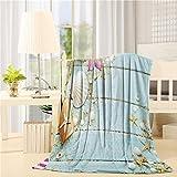 Super Soft Fleece Throw Blanket, Beach Theme Seashells 40'x50' Lightweight Plush Microfiber Blanket, Warm Cozy Couch Bed TV Blanket for All Season