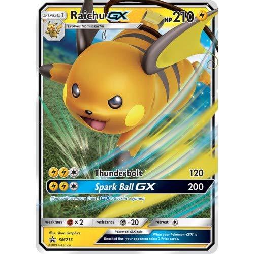 Raichu GX SM213 SM Black Star Promo Holo Pokemon Card EX-Near Mint...
