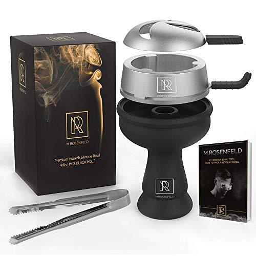 Hookah Bowl Set Silicone – Premium Shisha Bowl Phunnel Bowl for Smoking with Hookah Tongs & Heat Management Charcoal Holder