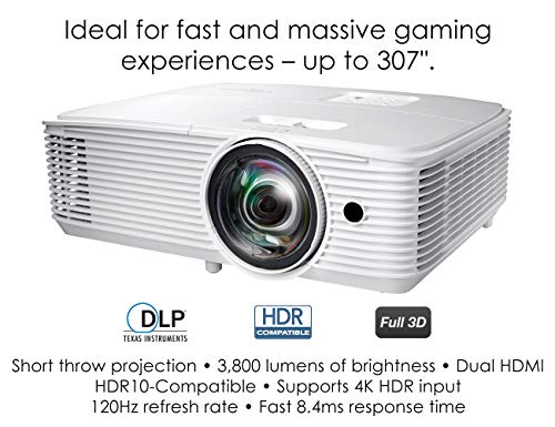 Optoma GT1080HDRRFBA DLP Projector (Renewed)