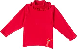 Giggles Ruffle Detail Ribbed High-Neck Pullover for Girls