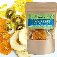【スペイン直輸入 NaturSnacks】ドライフルーツ カクテル 30ℊ (アップル、パイナップル、オレンジ、キウイ) 無添加 砂糖不使用