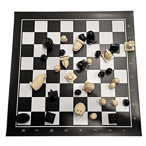 Juego de ajedrez de plástico con bolsa de cuero de gama alta torneo tablero de ajedrez de tablero de juegos educativos para regalo de ajedrez juego de ajedrez de ajedre