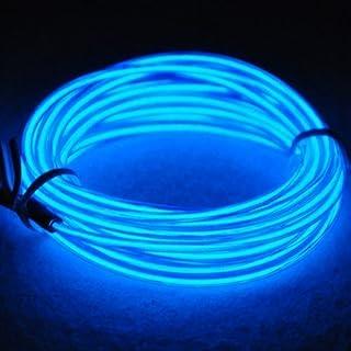 Tira de Luces 9ft LED Neon de colores,Mangueras Flexibles YiYunTE Iluminación de Tira con Controlador Box,2 AA Pilas Funcionado(azul)