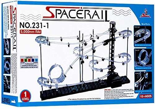 スペースレール(SPACE RAIL) NO. 231 無限ループ スペースレール パズル 知育 脳トレ ジェットコースターのような未来的知育玩具 インテリアとしても存在感大 (レベル4)