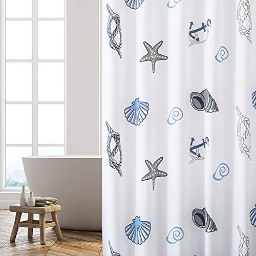 JRing Duschvorhang 180 x 180 Transparent, PEVA Wasserdicht, Halb-transparent Klar, Anti Schimmel, PVC-frei Umweltfre&lich Waschbar mit 12 Ringe (Schale)