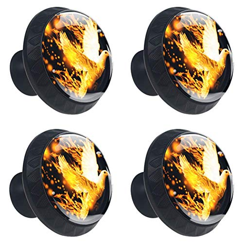 TIZORAX duif op brand lade knoppen Pull handgrepen 30MM 4 Stks glazen kast lade trekkers voor thuis keuken kast