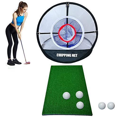 KIKILIVE Rete da golf per allenamento,Set da golf ,Attrezzatura da allenamento da Golf, rete per golf Elite Chipping, set portatile, per il golf e il golf, per interni ed esterni