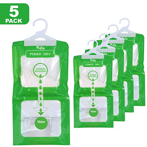 Buy Nifty Essentials Moisture Absorber and Odor Eliminator Packets for Closet, Cars, Wardrobes, Base...