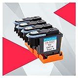 CMDZSW Cabeza de impresión Compatible para HP 11 Reemplazo para HP11 PRIMENDET DesignJet 70 100 110 500 510 500 PS C4810A C4811A C4812A C4813A (Color : BK C Y M)