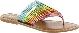 Seychelles Women's Flat Sandal, Rainbow, 6.5