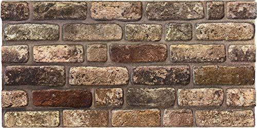 Steinoptik Wandverkleidung für Wohnzimmer, Küche, Terrasse oder Schlafzimmer in Klinkeroptik Look. | 100cm x 50cm (ST 135)