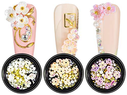 Nailart Overlay 3D Pearls Flower Mix Set