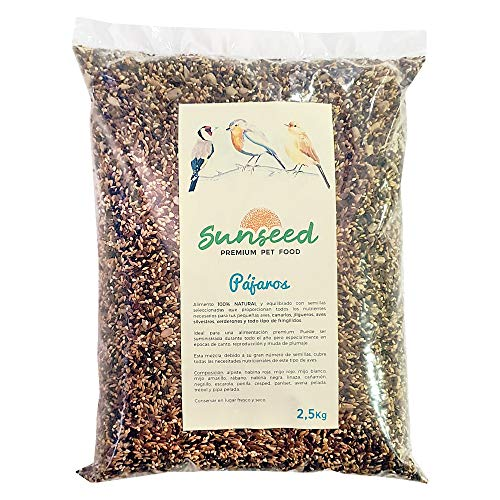 Sunseed Alimento Semillas para pajaros, jilgueros, Canarios, Aves Silvestres 2,5 Kg